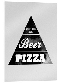 Acrylic glass  Food graphic beer pizza logo parody - Nory Glory Prints