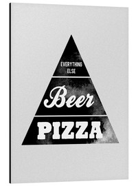 Aluminium print  Food graphic beer pizza logo parody - Nory Glory Prints