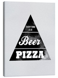 Canvas print  Food graphic beer pizza logo parody - Nory Glory Prints