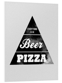 Foam board print  Food graphic beer pizza logo parody - Nory Glory Prints