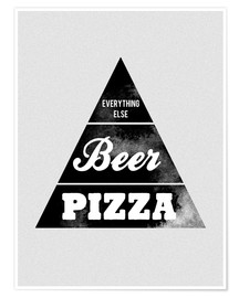 Poster  Food graphic beer pizza logo parody - Nory Glory Prints