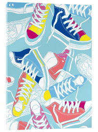 Acrylic print  Sneakers urban design shoes art decor - Nory Glory Prints