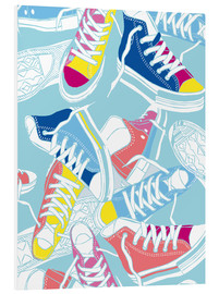 Foam board print  Sneakers urban design shoes art decor - Nory Glory Prints