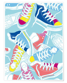 Premium poster Sneakers urban design shoes art decor