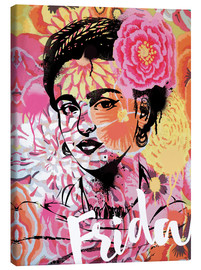 Canvas  Frida Kahlo ethnic pop art floral illustration - Nory Glory Prints