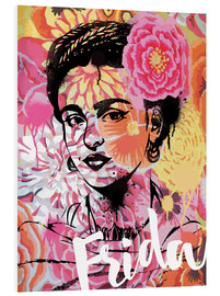 Foam board print  Frida Pop Art - Nory Glory Prints