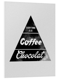 Foam board print  Pyramid Food graphic coffee chocolat logo parody art - Nory Glory Prints