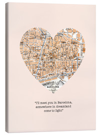 Canvas print  I'll meet you in Barcelona - Romance Typo - Nory Glory Prints