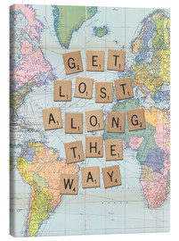 Canvas print  Get lost along the way scrabble letters art - Nory Glory Prints