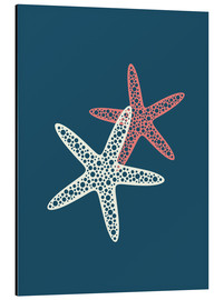 Aluminium print  Nautical logo starfish sea nautical ocean art - Nory Glory Prints