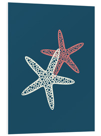 Foam board print  Nautical logo starfish sea nautical ocean art - Nory Glory Prints