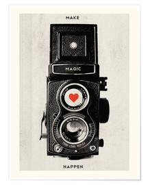 Poster Vintage retro camera photographic art print