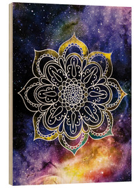 Wood print  Space mandala - Nory Glory Prints