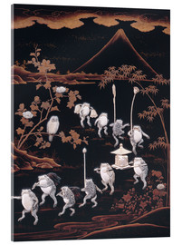 Acrylic glass  Procession of frogs