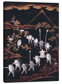 Canvas print  Procession of frogs