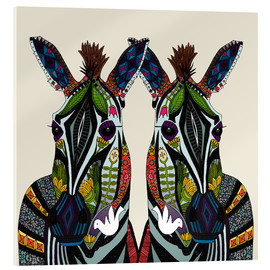 Acrylic glass  Zebra love - Sharon Turner
