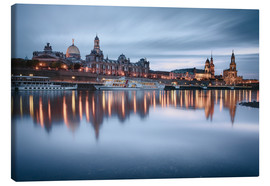Canvas  Dresden old town at the blue hour - Philipp Dase