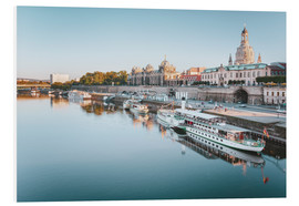 Foam board print  Dresden old town sunrise - Philipp Dase