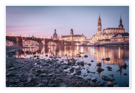 Poster Dresden old town sunrise