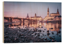 Wood print  Dresden old town sunrise - Philipp Dase