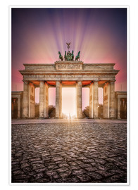 Premium poster Brandenburger Gate Berlin