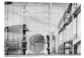 Acrylic print  Reflection on Paul Löbe House in Berlin's government district - Philipp Dase