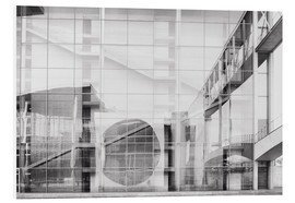 Foam board print  Reflection on Paul Löbe House in Berlin's government district - Philipp Dase