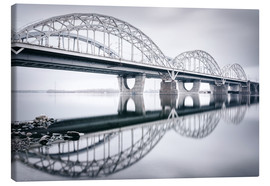 Canvas print  New Darnytskyi bridge in Kiev in winter - Philipp Dase