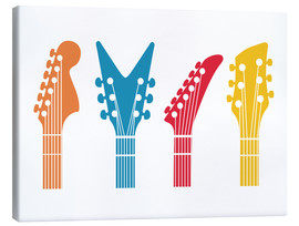 Canvas print  Guitar headstocks - Nory Glory Prints