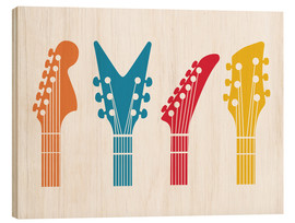 Wood print  Guitar headstocks - Nory Glory Prints