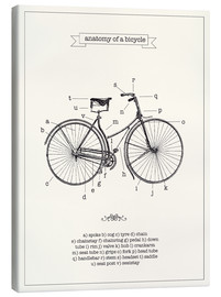 Canvas print  Vintage parts of a bicycle anatomy - Nory Glory Prints