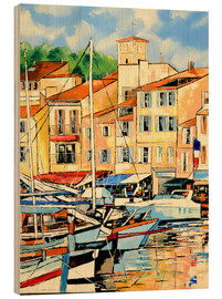 Wood print  Harbor view - JIEL