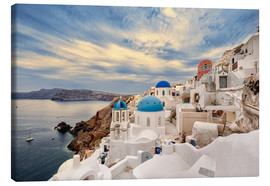 Canvas print  View of Oia, Santorini - Stefan Becker