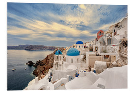 Foam board print  View of Oia, Santorini - Stefan Becker