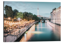 Aluminium print  Strandbar Mitte in Berlin at the blue hour - Philipp Dase