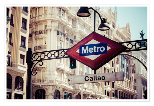 Premium poster Metro sign in Madrid