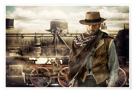 Premium poster  Gunslinger of the Wild West