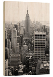 Wood print  Skyscrapers in New York City, USA