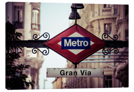 Canvas print  Metro sign, Madrid
