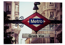 Foam board print  Metro sign, Madrid