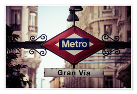 Premium poster Metro sign, Madrid