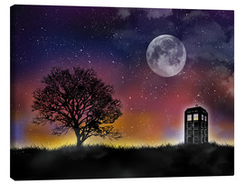 Canvas print  The Tardis at night, Doctor Who - Golden Planet Prints