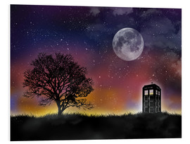 Foam board print  The Tardis at night, Doctor Who - Golden Planet Prints