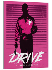 Alu-Dibond  Drive ryan gosling movie inspired art print - Golden Planet Prints