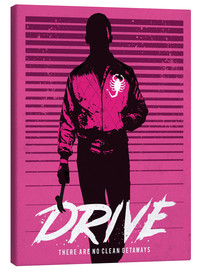 Canvas print  Drive Ryan Gosling movie inspired art print - Golden Planet Prints
