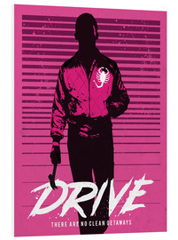 Foam board print  Drive Ryan Gosling movie inspired art print - Golden Planet Prints