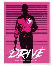 Poster Drive Ryan Gosling movie inspired art print