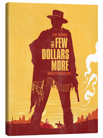 Canvas  For a few dollars more western movie inspired art print - Golden Planet Prints