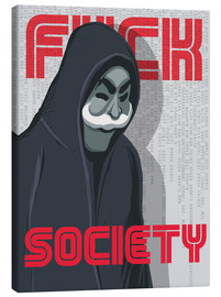 Canvas  Mr. Robot (F*ck Society) - Golden Planet Prints