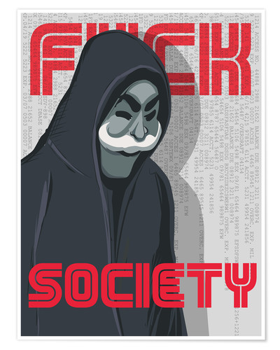 Poster Mr. Robot (F*ck Society)